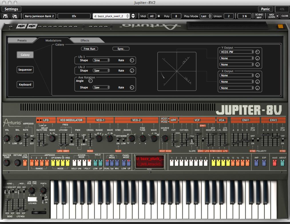 Arturia Jupiter 8v2 x Mac