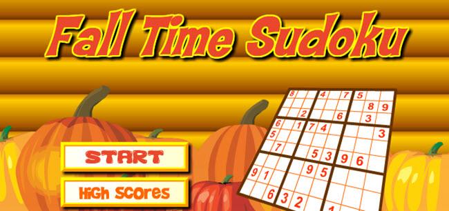 Fall Time Sudoku – ONLINE