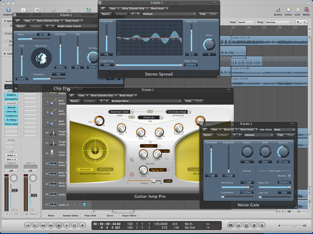 Logic Pro 8 + plugins x Mac