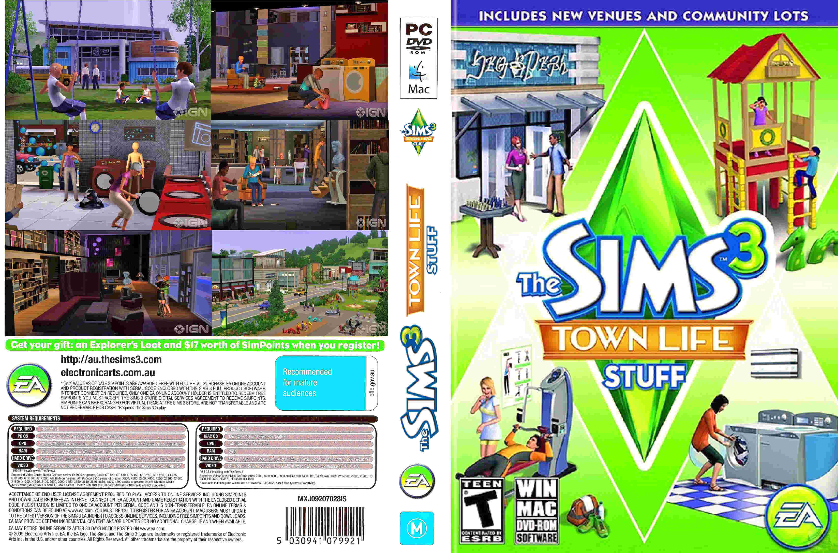 The Sims 3 Town Life Stuff – PC